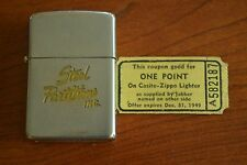 ZIPPO Advertising Lighter & 1949 Coupon, Steel Partitions, Inc., 1937-1950, M169
