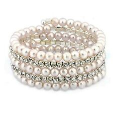 Cultured Freshwater Pearl Stretch Bracelet with Swarovski Elements
