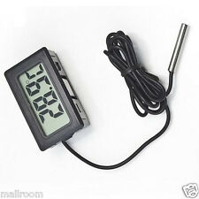 Digital Thermometer Hygrometer Thermofühler LCD Anzeige -50 - 110Grad C 1m Kabel
