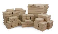 LOT OF 100 KRAFT COTTON FILLED BOX MIXED KRAFT JEWELRY BOXES GIFT BOX