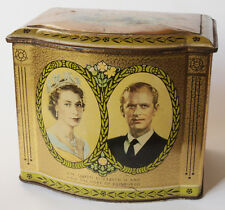 Queen Elizabeth II 1953 Coronation Rington's Tea Caddy