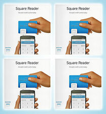 x4 Square Credit Card Reader - Mobile Payments on Smartphones & Tabets - NEW