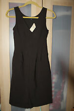 BANANA REPUBLIC Women's Dark Brown Wool Sleeveless Shift Dress - Size 0 (NWT)