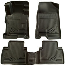 2012-2013 Honda Civic 4-Door Black Husky Liners WeatherBeater Floor Mats