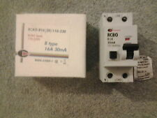 CGD 16 AMP TYPE B 16A 30 mA DOUBLE POLE RCBO 110/230V NEW