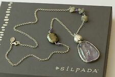 "Silpada Sterling Silver Amethyst Pyrite ""Ultraviolet"" Necklace N3119 NEW"