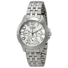 Citizen Silver Dial Multi-Function Stainless Steel Ladies Watch ED8100-51A