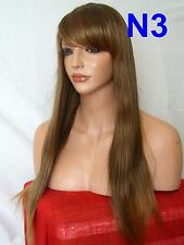 Wig straight Women long fashion natural cosplay cheap Brown Auburn Lady Wig N3