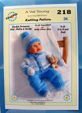 "1  DOLLS KNITTING PATTERN for ANNABEL or 18"" to 19"" doll  No.218 by Daisy-May"