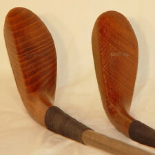 C59 St Andrews Hickory Shaft McEwan Long-nose Wood Head Driver & Putter Set