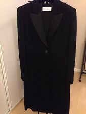 PIANOFORTE DI MAX MARA  BLACK EVENING TUXEDO STYLE COAT