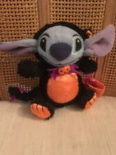 EUC DIsney Store Stitch Halloween Black Cat Costume Plush 6 inch