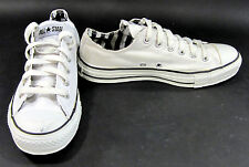 Converse Shoes Chuck Taylor Ox All Star Striped White/Black Sneakers Men 6 WO 8