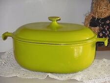 LE CREUSET FRANCE Nr 33  RARE Anise Green  Enamel Cast Iron Oval French Oven