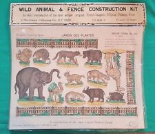 FRENCH IMAGERIE D'EPINAL PELLERIN PRINT NO. 1202 WILD ANIMAL & FENCE KIT