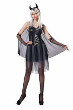 Ladies Womens Black Devil Costume Halloween Demon Adult Outfit UK 10-14