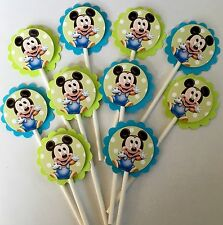 30 BABY MICKEY MOUSE Cupcake Toppers Birthday Party Favors, Baby Shower 30