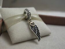 Genuine PANDORA Sterling Silver & Gold Love & Guidance Angel Wing Charm
