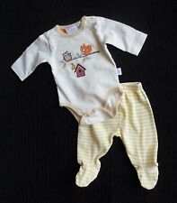 Baby clothes UNISEX BOY GIRL newborn 0-1m outfit organic cotton LS body/leggings