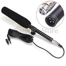 Black 14.37inch Camera Camcorder Shotgun Microphone Condenser Mic For Canon