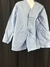 ONE NEW SEWING SOURCE Pajama Shirt Light Blue Medium w/Snap Buttons