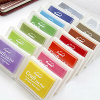 Large Rubber Stamps Craft Pigment Ink Pad For Paper Wood Fabric 15 Colours Craft