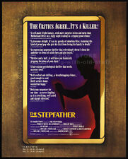 THE STEPFATHER__Original 1987 Trade AD screening promo / poster__SHELLEY HACK