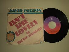 "David Parton ‎/ Isn't She Lovely–Disco Vinile 45 Giri 7"" Stampa Italia 1977"