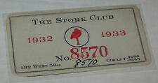 """Reproduction Courtesy Card for """"The Stork Club 1932-33"""""""