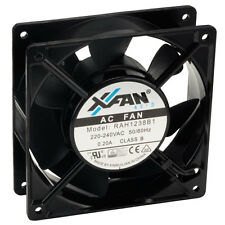 X-Fan X-Fan Axial Cooling Fan 120 x 120 x 38mm Ball Bearing 230v AC Mains
