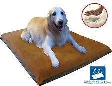 """41X27""""X4"""" Sudan Brown Orthopedic Waterproof Memory Foam Pet Bed Medium Large dog"""