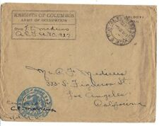 US 1919 SOLDIER MAIL KNIGHT OF COLUMBUS ARMY OF OCCUPATION POSTAL EXPRESS SERVIC