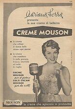 W1529 Adriana Serra presenta CREME MOUSON - Pubblicità del 1956 - Vintage advert