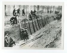 World War II France - Vintage 7x9 Publication Photograph - French Army Barriers