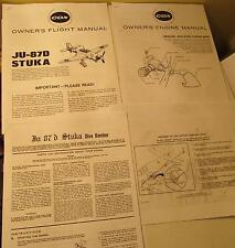 Cox Ju87d Stuka Owner's Flight and Engine Manual Photocopies for Gas Power Plane