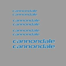 Cannondale Bicycle Frame Stickers - Decals - Transfers: Blue. n.14