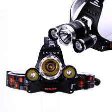 Nuevo boruit 3x CREE XM-L t6 LED 5800lm frente lámpara lámpara de cabeza ultra headlight