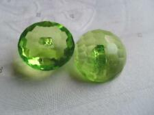 B226cl-25mm 4 CLEAR LARGE CRYSTAL DIAMOND GLASS EFFECT PLASTIC ITALIAN BUTTONS