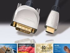 20.0 Meter Clicktronic Advanced HDMI To DVI-D Cable,24K Gold,Converter,HDTV LCD