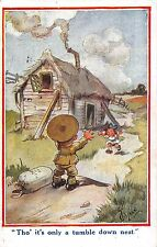 POSTCARD   COMIC  CHILDREN  WWI   Tho' it's only a tumble down nest       GILSON