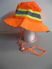 Orange Construction Hat L XL Ventilated Reflective Safety Boonie Lighweight NEW