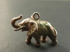 VINTAGE SILVER CHARM AFRICAN ELEPHANT