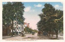 Princeton NJ University Looking East on Nassau Street Postcard PC WB New Jersey
