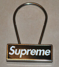 Supreme 2015 FW Black Box Logo Clip Keychain - Brand New & Limited Edition