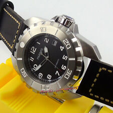 Parnis 45mm black dial date luminous 21 jewels MIYOTA Automatic men's watch 243A