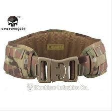 EMERSON Padded Molle Combat Waist Belt Airsoft Paintball CORDURA MultiCam