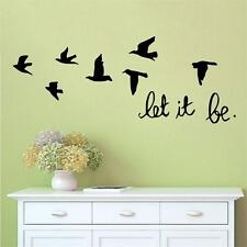 Let It Be Quote Flying Birds Vinyl Wall Decal Home Removable DIY Art Sticker