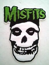 "(C26) MISFITS SKULL 4"" x 3"" sew / iron on patch Punk Skeleton Backpack applique"