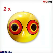 2x SCARE EYE BALLOON Bird Scarer Deterrent Repeller Frighten Wind Yellw 93004002