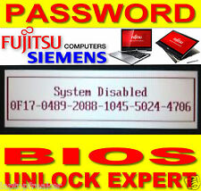 FUJITSU Siemens Lifebook Celsius unlock password BIOS elimina 6x4 nuovo Service